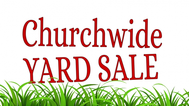 Annual Church Wide Indoor Garage Sale